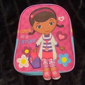 Small Kids Disney Doc Mcstuffins Backpack NWT